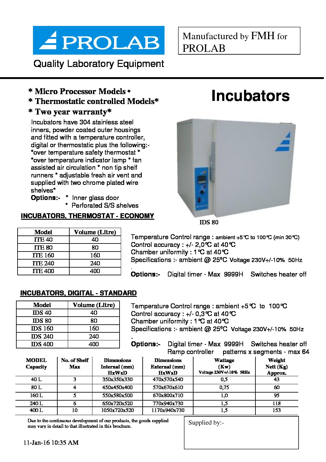 Laboratory Equipment Cdr Labs Ds80 Wiring Diagram Incubators Ovens